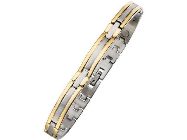 8mm Designer Magnetic Two-Tone Steel Men's Bracelet