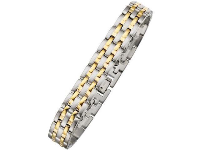 12mm Designer Magnetic Two-Tone Steel Men's Bracelet