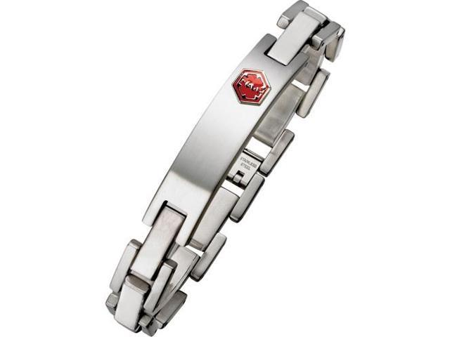 Men's Adjustable Stainless Steel Medical ID Bracelet