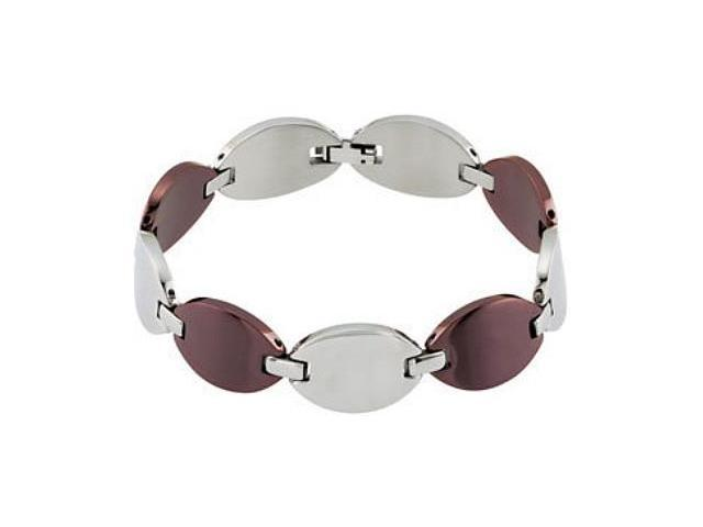 Stainless Steel Oval Chocolate Bracelet
