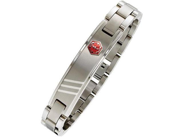 Men's Adjustable Stainless Steel Medical ID Bracelet