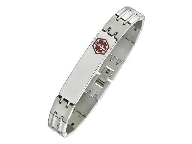 Men's Stainless Steel Medical Bracelet