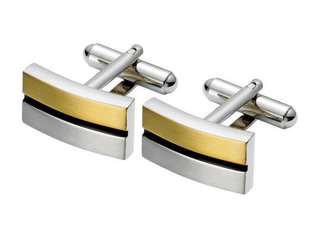 Men's Stylish Two-Tone Steel Cufflinks