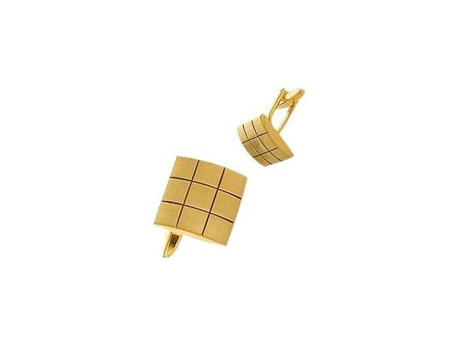 Men's Yellow Gold Plated Steel Cufflinks