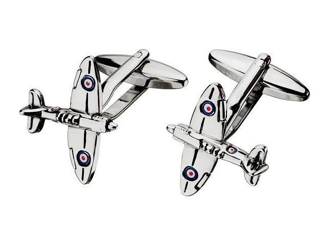 Men's Steel Spitfire Airplane Cufflinks