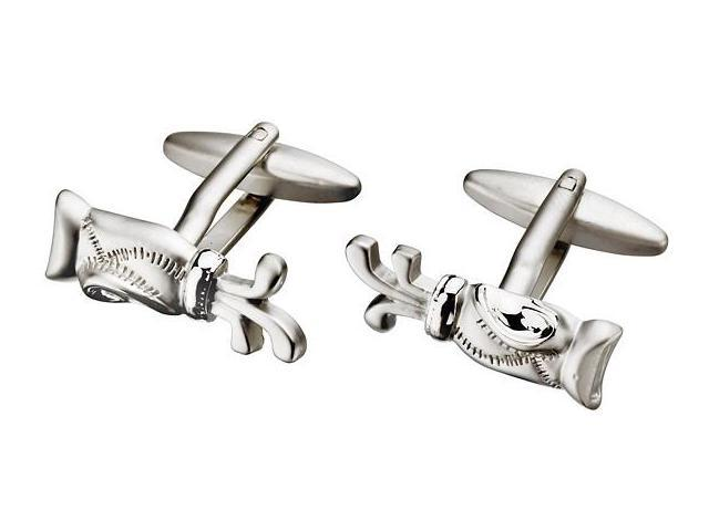 Men's Golf Bag Steel Cufflinks