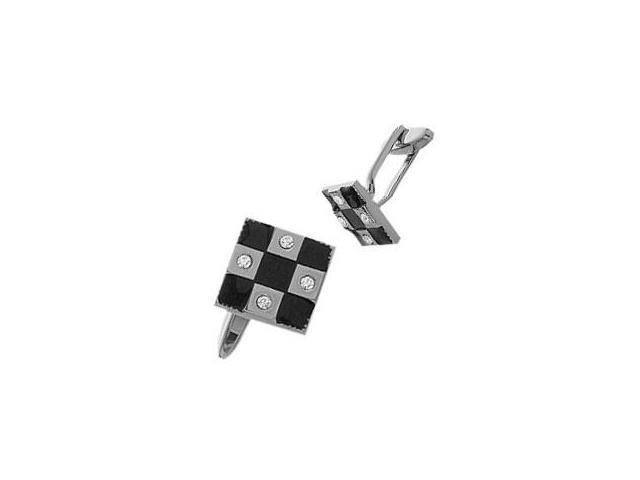 Men's Enamel & Cubic Zirconia Cufflinks