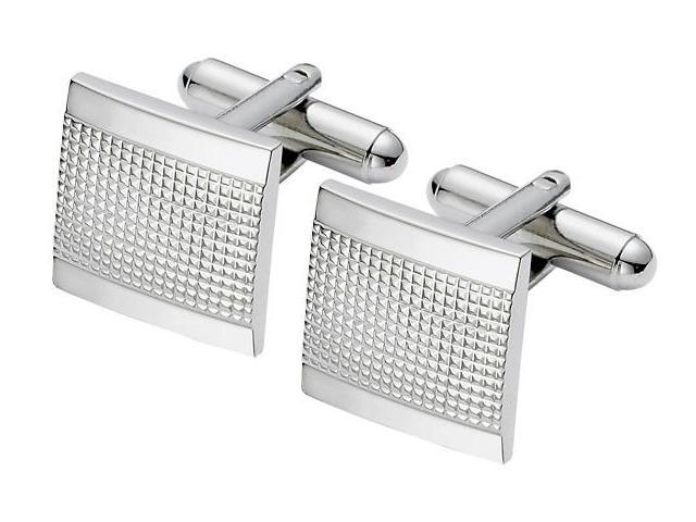 Men's Multi-Texture Square Steel Cufflinks