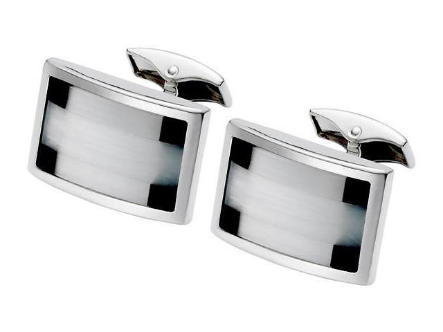 Men's Black Onyx & Fibre Optic Cufflinks