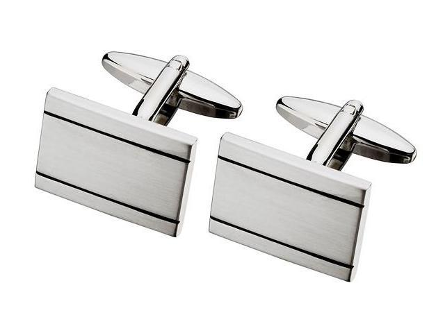 Men's Stylish Steel Rectangle Cufflinks
