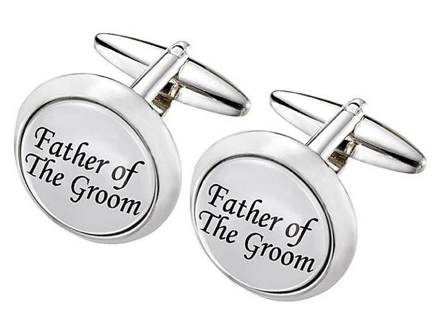Men's Stainless Steel GROOM Cufflinks