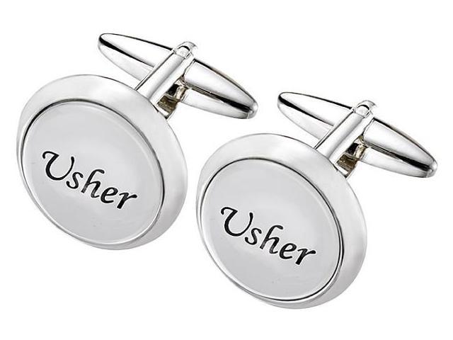 Men's Stainless Steel BEST MAN Cufflinks