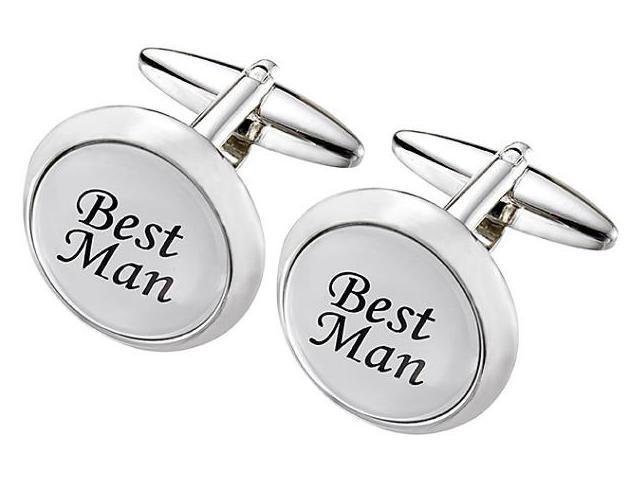 Men's Stainless Steel FATHER OF THE BRIDE Cufflinks