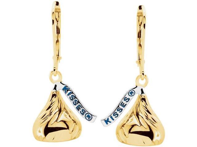 HERSHEY'S KISSES® 14 Karat Yellow Gold 25mm x 13mm Dangle Earrings