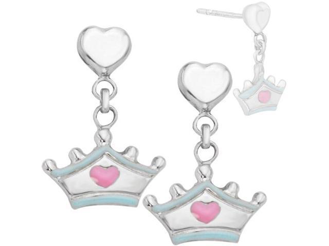 Disney® Cinderella Tiara Enamel Earrings