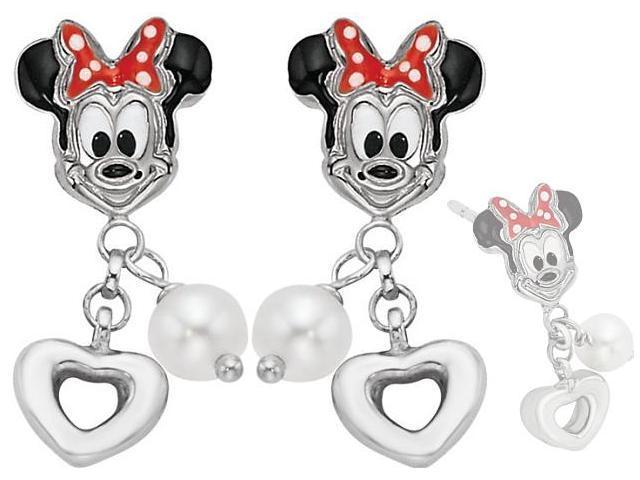 Disney® Minnie Mouse Enamel & Pearl Earrings