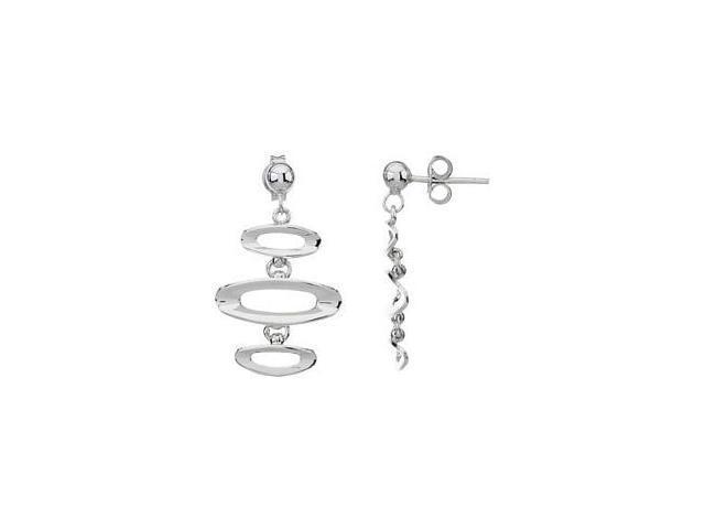 Genuine Genuine Sterling Silver Drop Style Stud Earrings