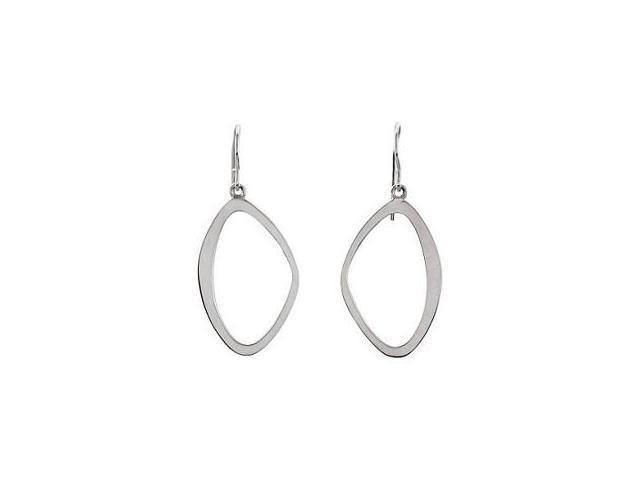 Ladies Genuine Sterling Silver Drop Style Earrings