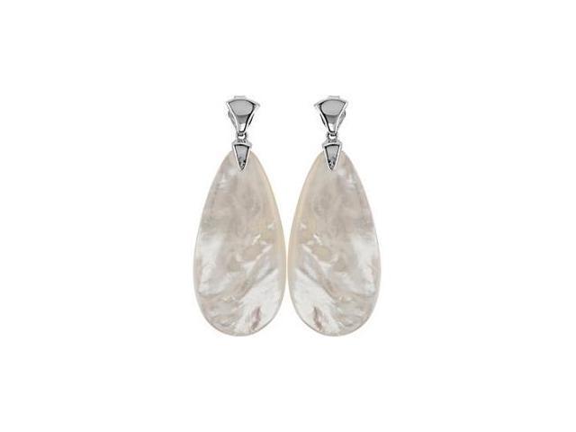 Genuine Sterling Silver Mother Of Pearl Earrings