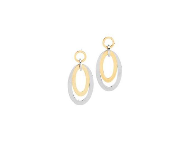 Gold Immerse Plated Stainless Steel Oval Earrings