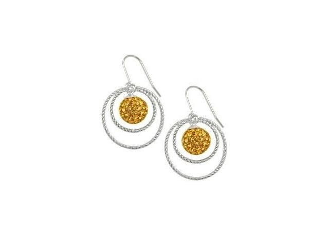 SWAROVSKI® Elements Genuine Sterling Silver Circle Ball Earrings