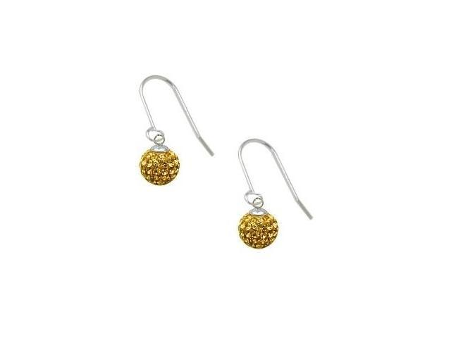 SWAROVSKI® Elements Yellow Stone Circle Ball Earrings