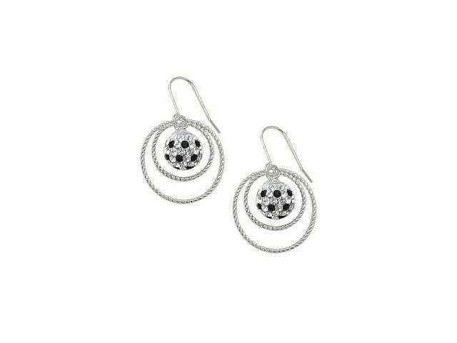 SWAROVSKI® Elements Double Circle Ball Earrings