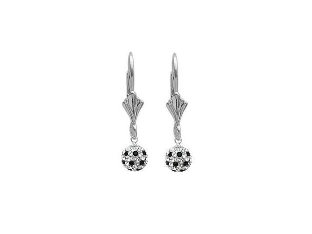 SWAROVSKI® Elements Black Stone Drop Style Ball Earrings