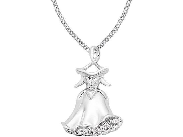 Disney® Sleeping Beauty Dress Diamond Necklace - 14
