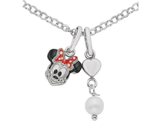 Disney® Minnie Mouse Enamel & Pearl Necklace