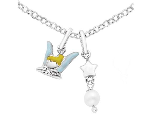 Disney® Tinkerbell Enamel & Pearl Necklace