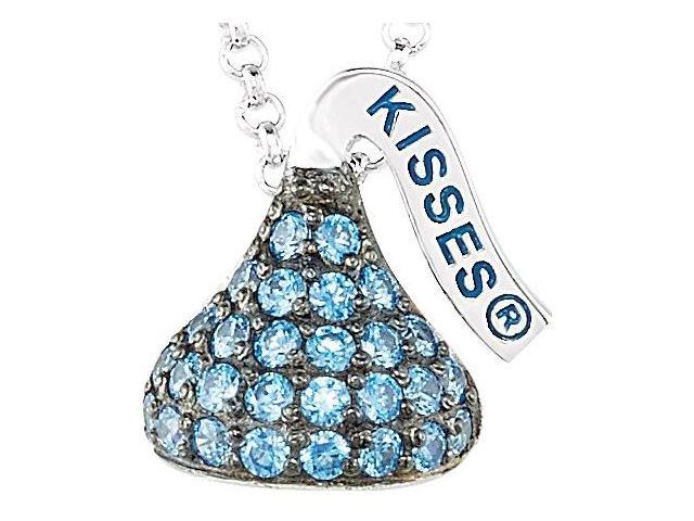 HERSHEY'S KISSES® Silver September Small CZ Multi-Stone Pendant with Chain