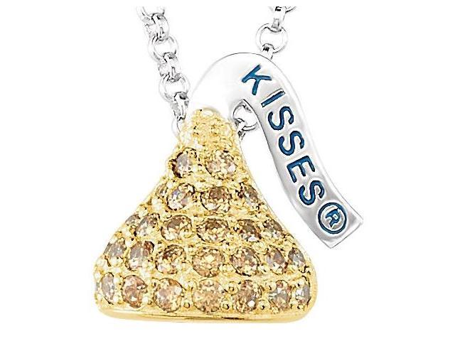 HERSHEY'S KISSES® Silver November Small CZ Multi-Stone Pendant with Chain