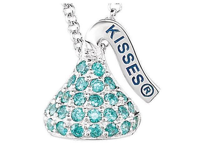 HERSHEY'S KISSES® Silver December Small CZ Multi-Stone Pendant with Chain