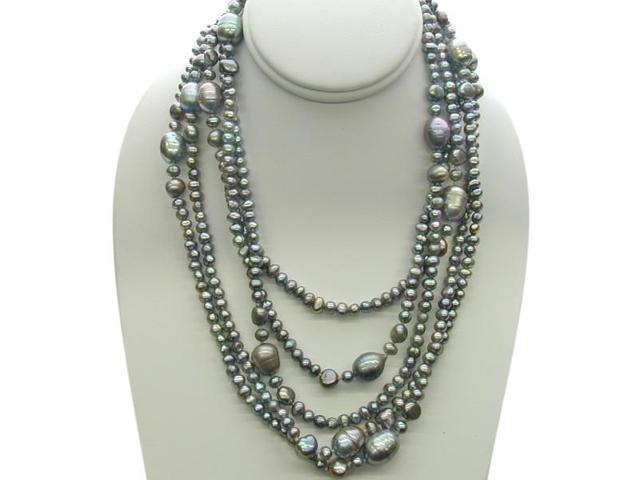 80 Inch Grey Freshwater Pearl Strand Necklace