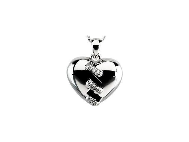 Sterling Silver Broken Heart Pendant ~ Deborah J. Birdoes with a chain