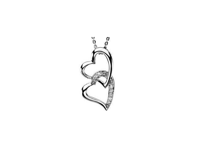 Sterling Silver Sisters By Heart Pendant ~ Deborah J. Birdoes with a chain