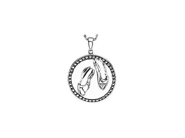 Sterling Silver Dance Blessed Pendant ~ Deborah J. Birdoes with a chain