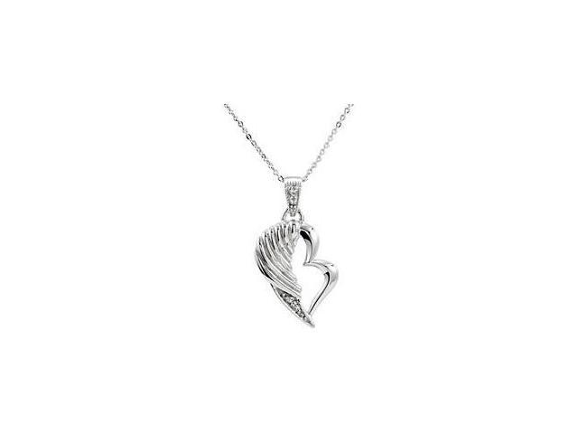 Sterling Silver The Broken Wing Pendant ~ Deborah J. Birdoes with a chain