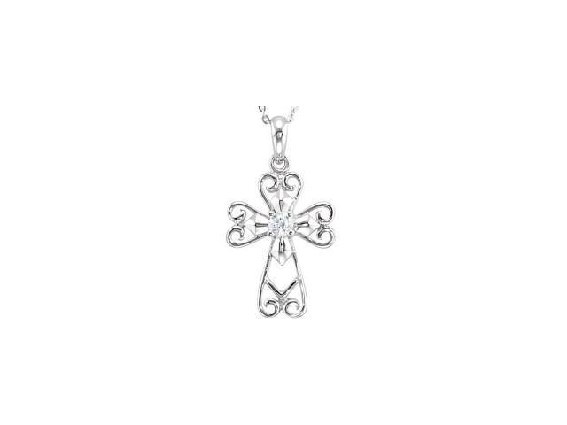 Sterling Silver Jesus, The Morning Star Cross~Deborah J. Birdoes with a chain