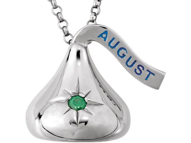 HERSHEY'S KISSES® Silver August CZ Pendant with Chain