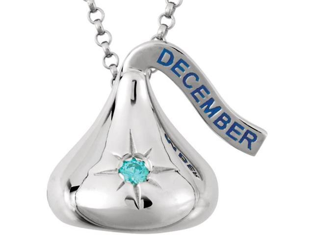 HERSHEY'S KISSES® Silver December CZ Pendant with Chain
