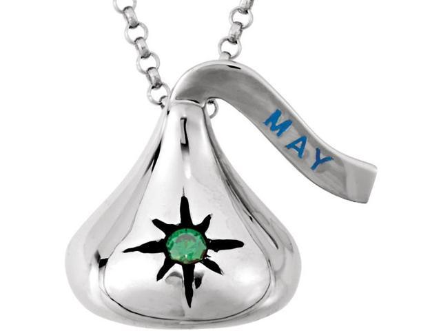 HERSHEY'S KISSES® Silver May CZ Pendant with Chain