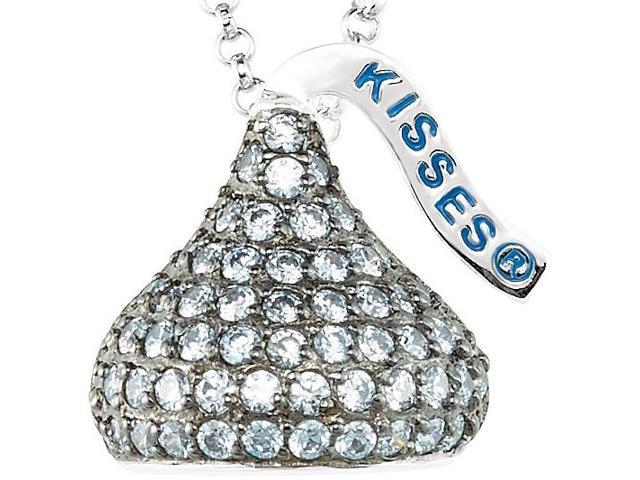 HERSHEY'S KISSES® Silver June CZ Multi-Stone Pendant with Chain