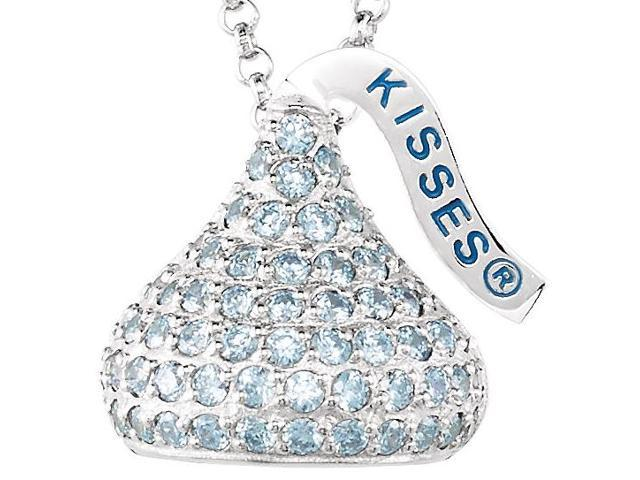 HERSHEY'S KISSES® Silver March CZ Multi-Stone Pendant with Chain