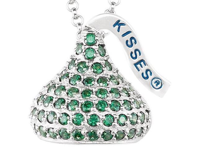 HERSHEY'S KISSES® Silver August CZ Multi-Stone Pendant with Chain