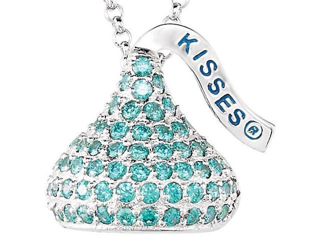 HERSHEY'S KISSES® Silver March Small CZ Multi-Stone Pendant with Chain
