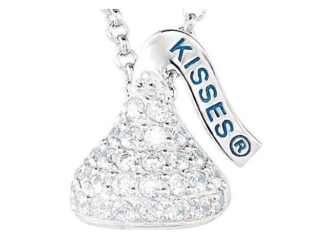 HERSHEY'S KISSES® Silver April Small CZ Multi-Stone Pendant with Chain