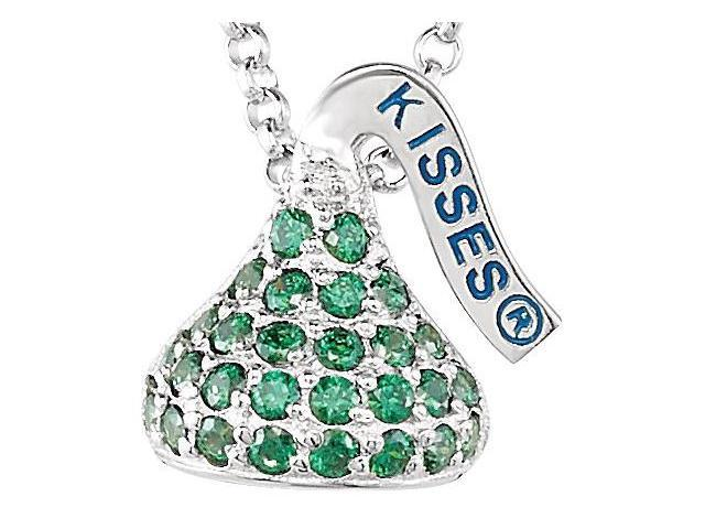 HERSHEY'S KISSES® Silver August Small CZ Multi-Stone Pendant with Chain
