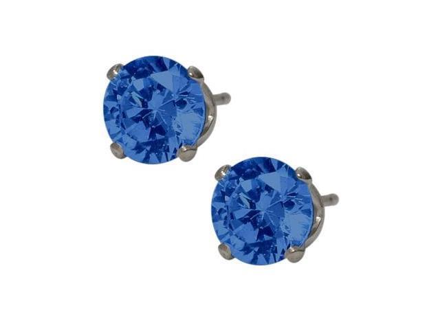 6mm SWAROVSKI Elements Dark Blue Crystal Stud Earrings